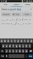 Screenshot of Morse Code Generator