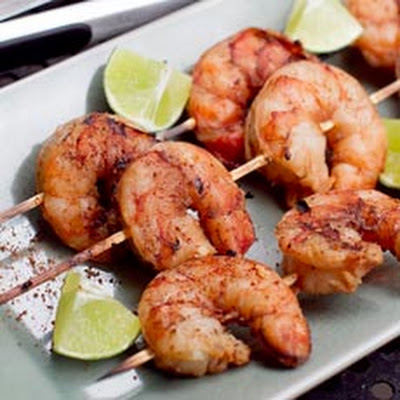 Grilled Blackened Shrimp Skewers