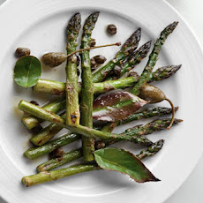 Roasted Asparagus with Bay Leaves and Crispy Capers Recipe