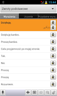 Polish<->Farsi Phrasebook - screenshot