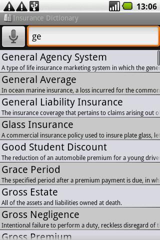 BKS Insurance Dictionary