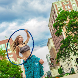 hula hoop  by Jesse Tanner - People Musicians & Entertainers