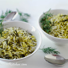 Shivid Polow ~ Persian Dill Rice