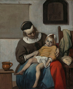 RIJKS: Gabriël Metsu: The Sick Child 1666