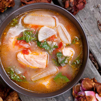Salmon-Miso Sinigang (Filipino Sour Soup)