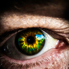eyes of fire by Adrian Kurbegovic - People Body Parts
