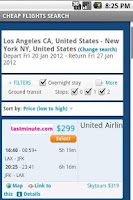 Screenshot of Cheap Flights Search