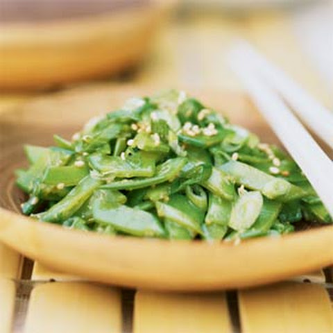 Snow Pea Salad with Sesame Dressing