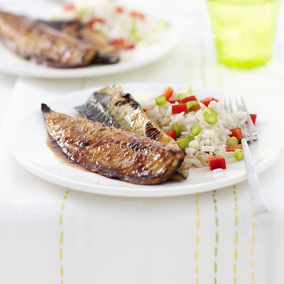 Grilled Mackerel With Soy, Lime & Ginger