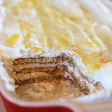 No-Bake Lemon Cream Graham Cracker Icebox Sheet Cake