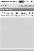 Screenshot of Catholic Calendar