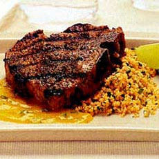 Grilled Pork Chops with Anise-Seed Rub and Mango Mojo