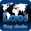 Laos flag clocks