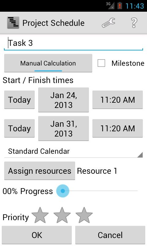 Project Schedule Screenshot 3