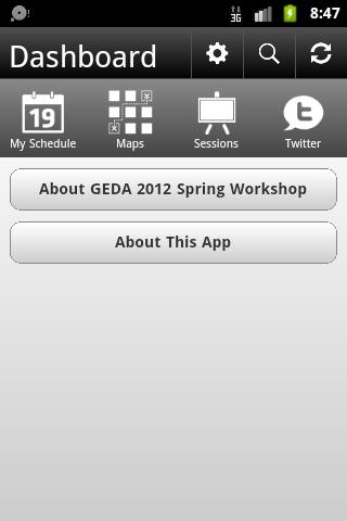 GEDA 2012 Spring Workshop