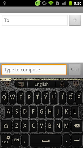 GO Keyboard BlackLeather theme