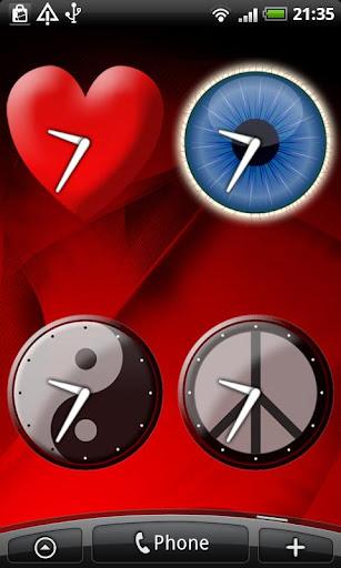 Button Badge Clock Widget