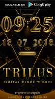 Screenshot of TRILUS Luxury Clock Widget
