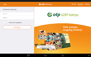 Screenshot of OTP SZÉP card
