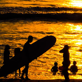 Sunset Surf by Cuncun Wijaya - Sports & Fitness Surfing ( kuta, bali, surfing, pantai, sunset, indonesia, beach, man )