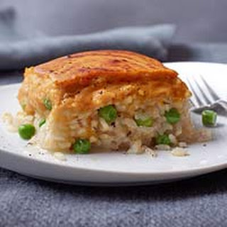 Pea Risotto with Squashy Souffle