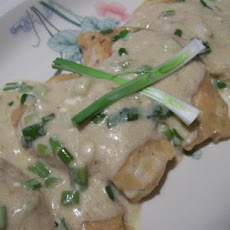 Chicken With Creamy Green Onion Sauce