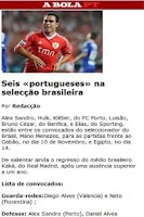 Screenshot of Abola sports newspaper