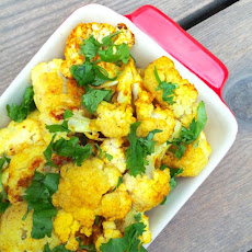 Curried Roasted Cauliflower with Coconut Oil