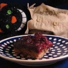 Three Berry Upside-Down Cake