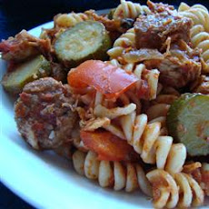 Chicken, Sausage and Zucchini Pasta