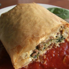 Greek Ground Beef Roll