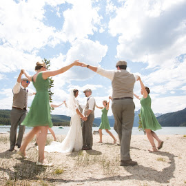 Friends Circle Around by Brooke Green - Wedding Groups ( outdoor wedding, natural light, wedding photography, outdoor photography, bridal party, wedding, portraits )