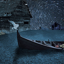 ANGKER by Ilham Abdi - Digital Art Things ( #place #night #lanscape #think #imajination #manipulation #sureal )