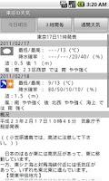 Screenshot of ウェザーインフォメーション