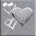 Contemporary Silver Hearts icon