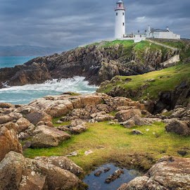 Irish Lighthouse by Stevan Tontich - Landscapes Beaches ( ireland, lighthouse, sea, rocks, donegal )