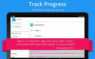 Screenshot of iSyncr : iTunes for Android