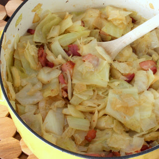 Boiled Cabbage With Bacon