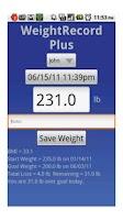 Screenshot of WeightRecord