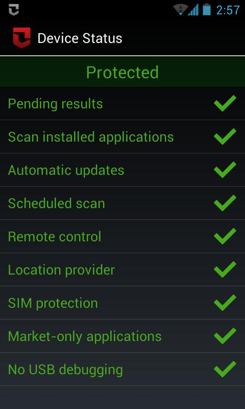 Zoner Mobile Security Screenshot 1