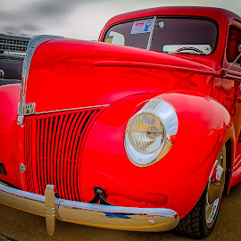 Red Ford Truck by Ron Meyers - Transportation Automobiles