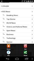 Screenshot of Herald Sun (shortcut)