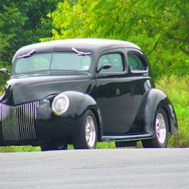 Old School  by Roxanne Gunn - Transportation Automobiles