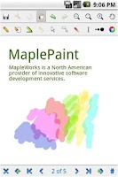 Screenshot of MaplePaint
