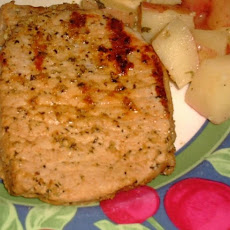 Grilled Indoor Pork Chops for Two