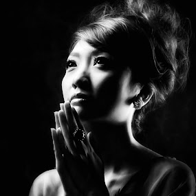 Pray by Anugrah Fajar - Black & White Portraits & People