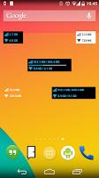 Screenshot of Data counter widget