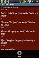Screenshot of Lets Learn Hindi