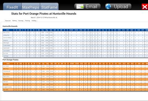 Baseball ScoreBook - screenshot