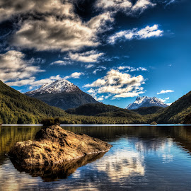 Lake Sylvan by Pete Whittaker - Landscapes Mountains & Hills ( reflection, mountain, lake, landscape, new zealand,  )